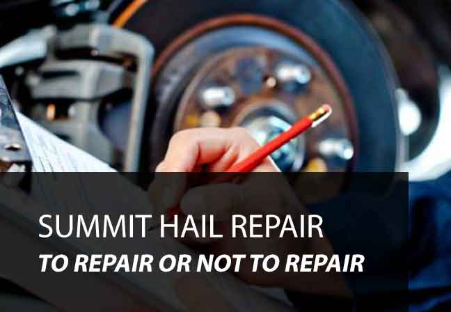 2 Reasons To Repair Hail Damage 2 To Pass Summit Hail Repair