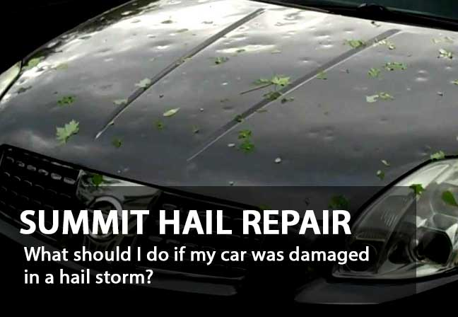 What should I do if my car was damaged in a hail storm?